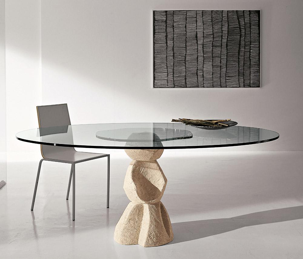 Basi In Pietra Per Tavoli In Cristallo.Laboratorio Del Marmo Console Tavolini E Tavoli In Pietra